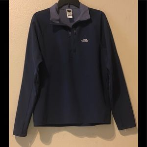 Men's north face pull over sweater